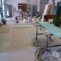 Felújítási munkálatok a békéscsabai Tégla Alkotóházban