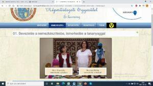 E-learning felület